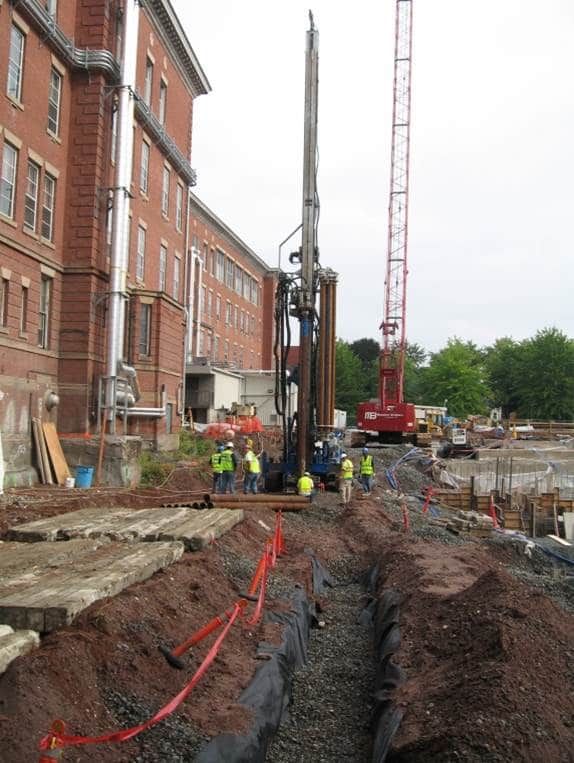 Prevention of additional building settlement due to adjacent construction at St. Francis Hospital and Medical Center in Hartford, CT