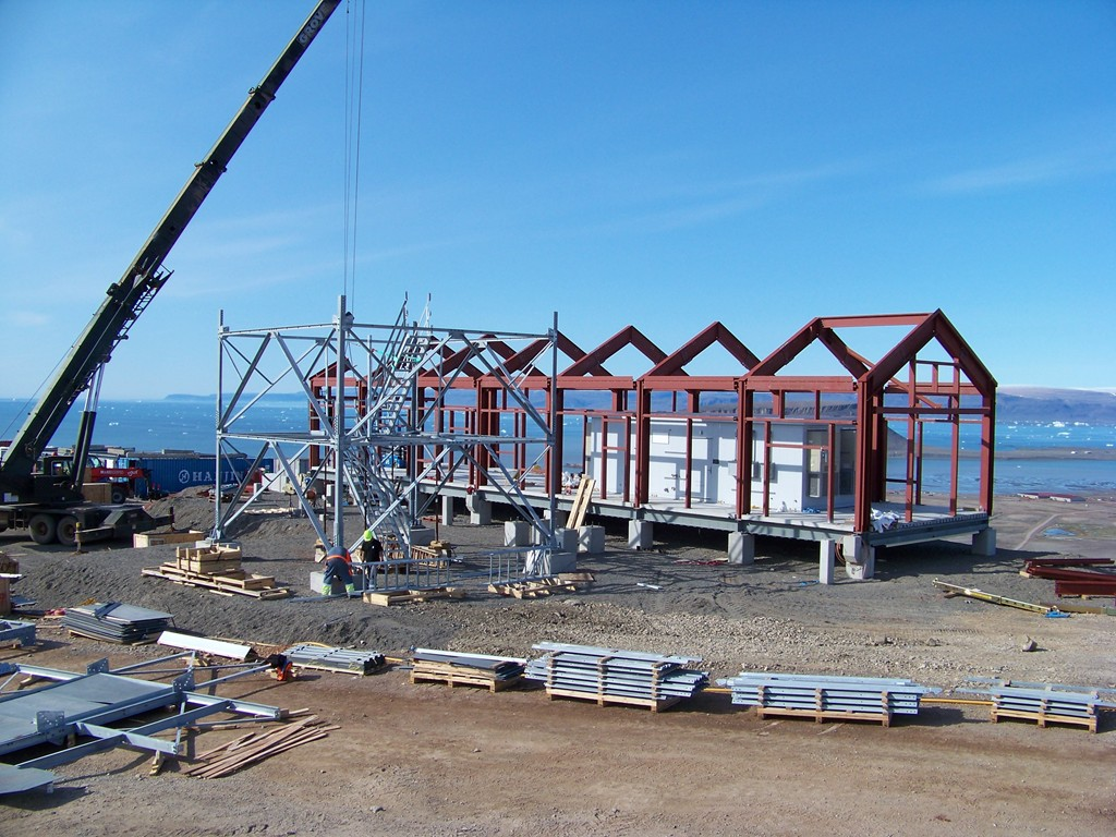 Detailing and Erection of a Steel Building in the Remote Arctic with Materials Sourced from the US and Europe