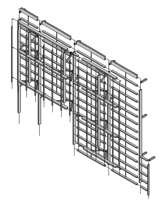 Blast-Resistant Design of a Three-Story Glass Curtain Wall System at a Federal Research Facility