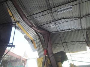 Roof failure under snow load