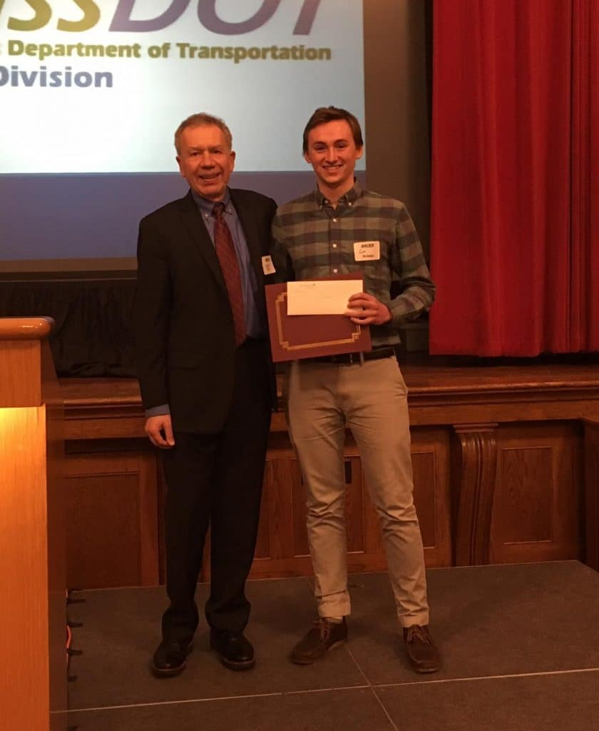 Simpson Gumpertz & Heger Awards Scholarship to Wentworth's Clay Harman at BSCES Student Night