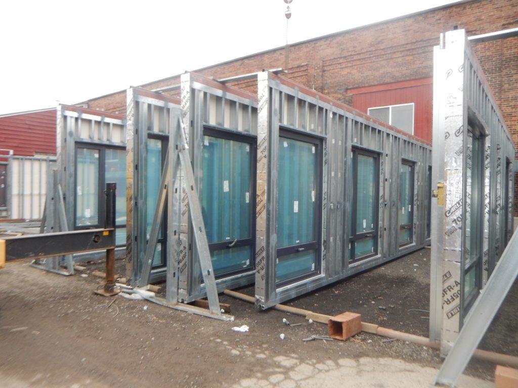 unitized enclosure panel