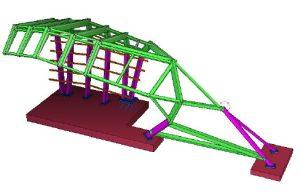 Levitt Pavillion, Steel fabrication model